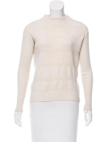 Proenza Schouler Plaid & Chevron Sweater None