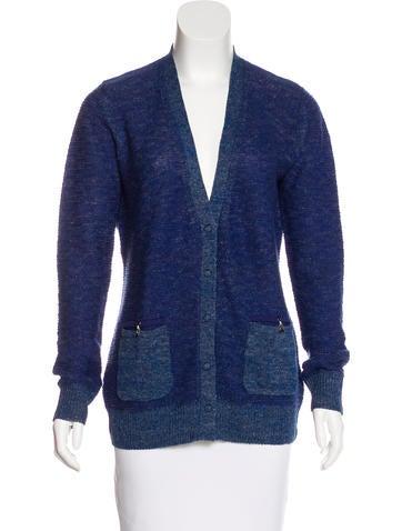 Proenza Schouler Linen & Wool-Blend Knit Cardigan None
