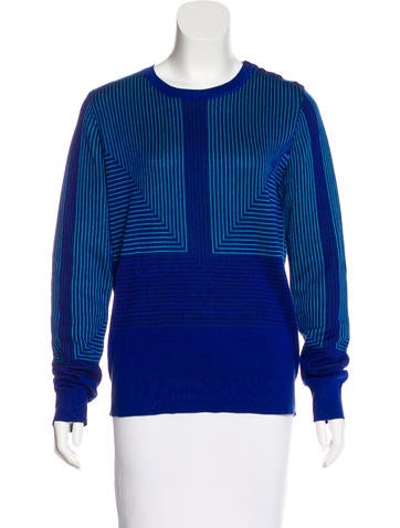 Proenza Schouler Silk Patterned Sweater None
