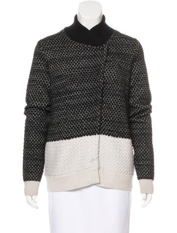 Proenza Schouler Wool & Cashmere-Blend Patterned Cardigan None
