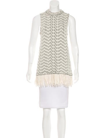 Proenza Schouler Knit Fringe Top None