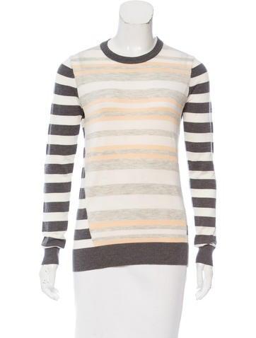 Proenza Schouler Striped Wool & Silk-Blend Sweater None