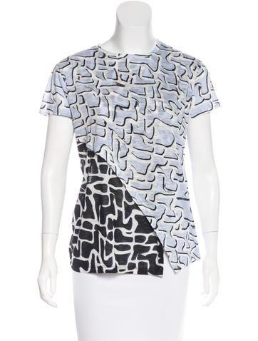 Proenza Schouler Printed Short Sleeve Top None