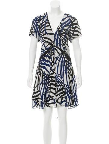 Proenza Schouler Silk Abstract Printed Dress None