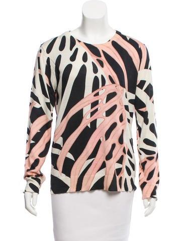 Proenza Schouler Printed Silk-Blend Sweater None