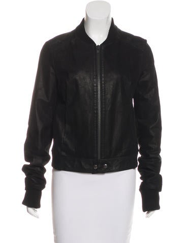 Proenza Schouler Leather Bomber Jacket None