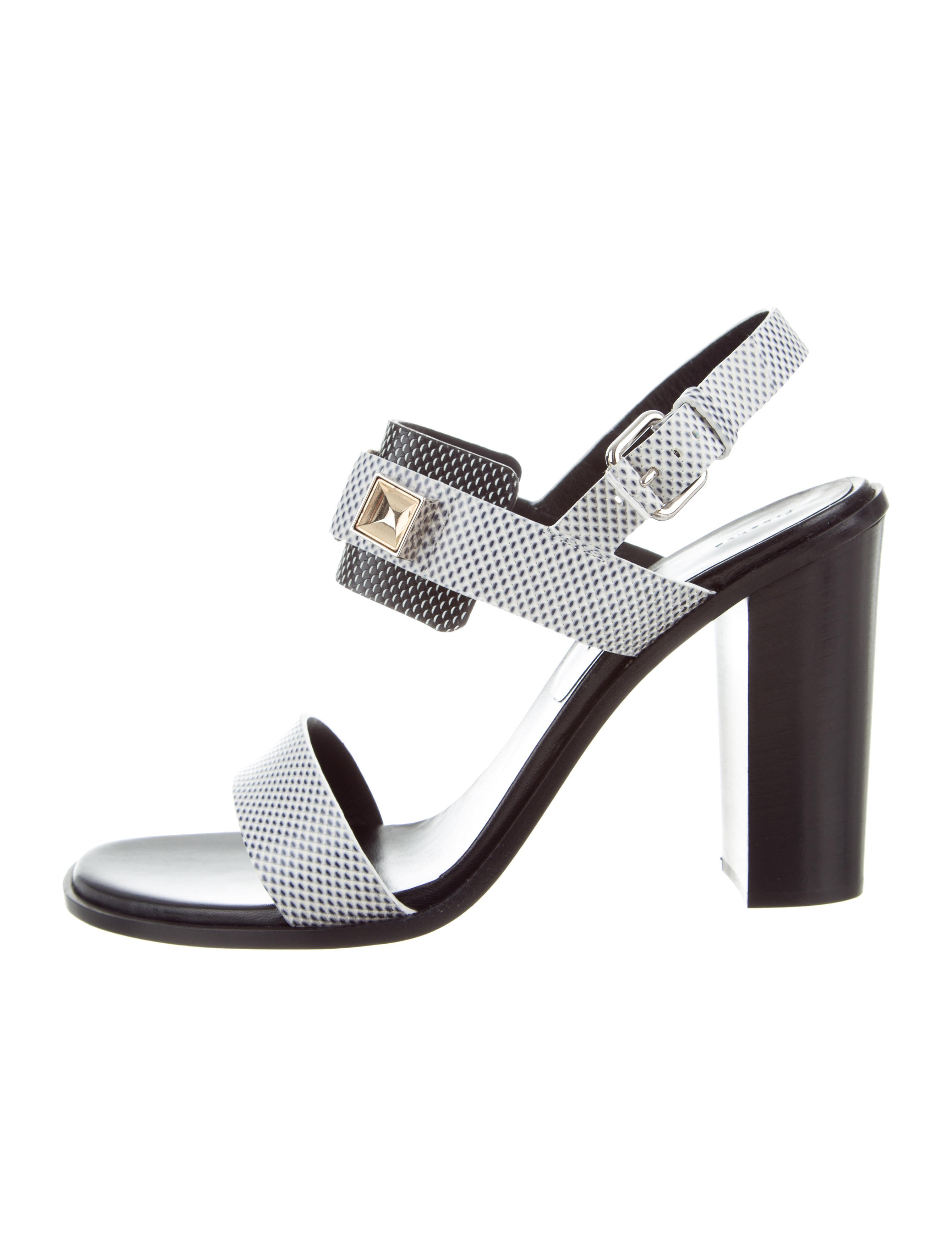 Proenza Schouler Harmon Leather Sandals w/ Tags cheap 2015 MyanX6Bpr6