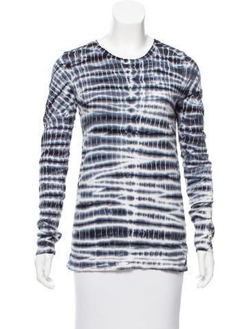 Proenza Schouler Tie-Dye Long Sleeve Top None