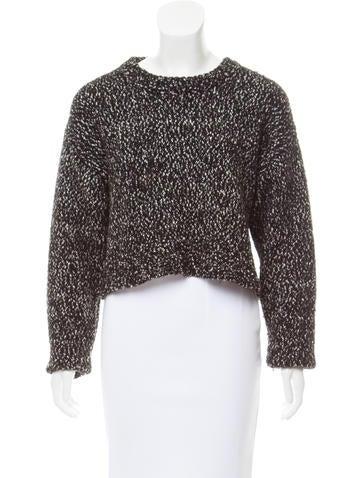 Proenza Schouler Cropped Knit Sweater None