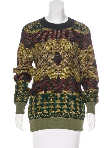 Proenza Schouler Long Sleeve Knit Sweater None