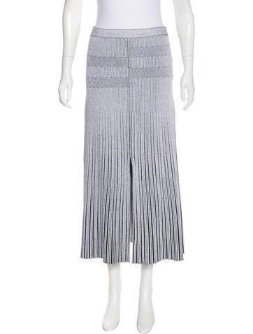 Proenza Schouler Rib Knit Midi Skirt None