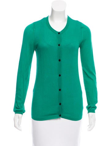 Proenza Schouler Knit Button-Up Cardigan None