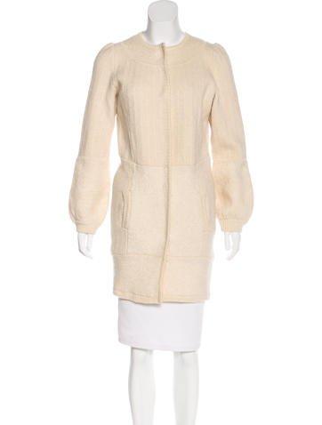 Proenza Schouler Long Knit Jacket None