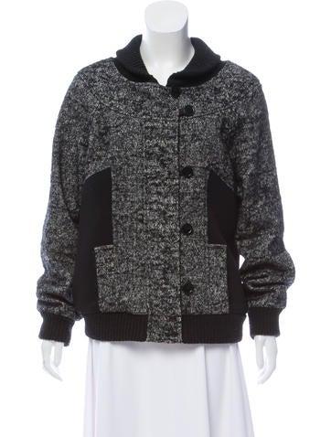 Proenza Schouler Collarless Zip-Up Jacket None