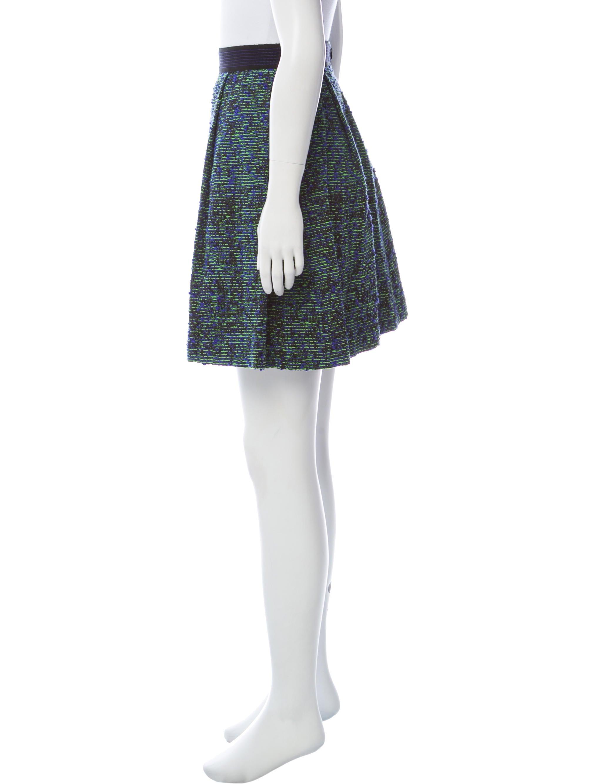Cheap Sale Newest 2018 Unisex Cheap Online Proenza Schouler Bouclé Pleated Skirt ykvF4G8M