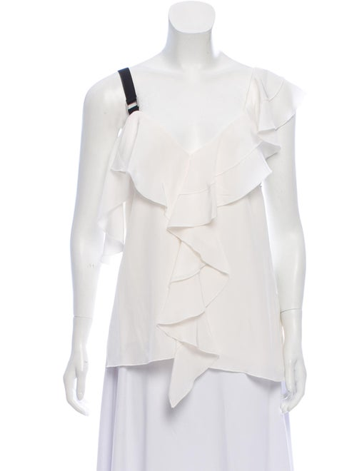 Proenza Schouler Ruffled Accent Blouse w/ Tags Whi