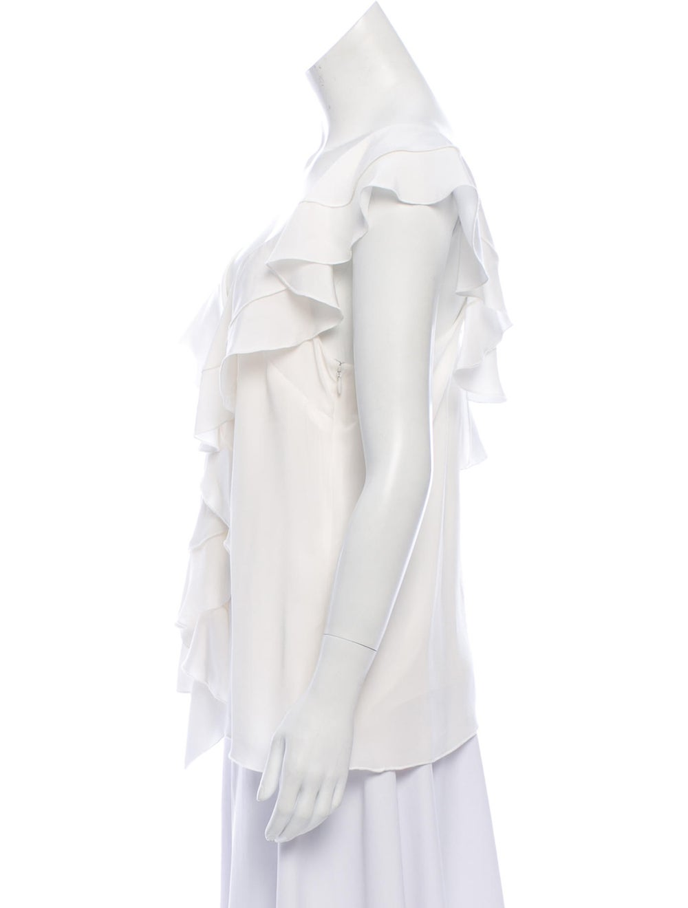 Proenza Schouler Ruffled Accent Blouse w/ Tags Wh… - image 2