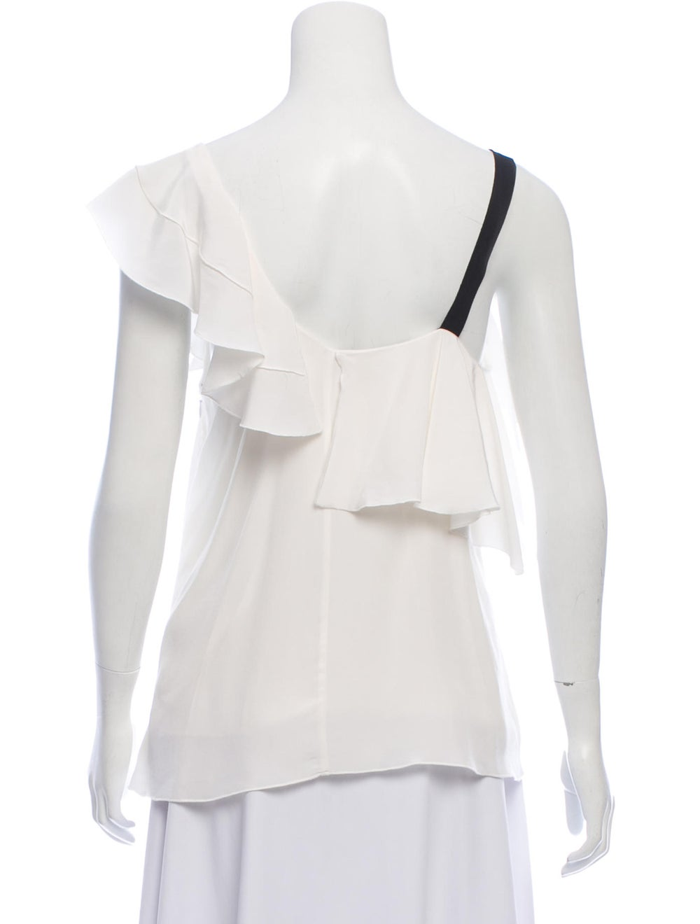 Proenza Schouler Ruffled Accent Blouse w/ Tags Wh… - image 3
