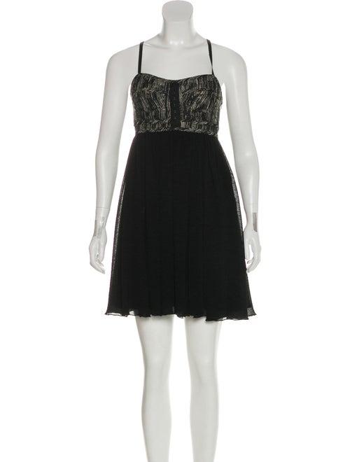 Proenza Schouler Seersucker Sleeveless Dress Black