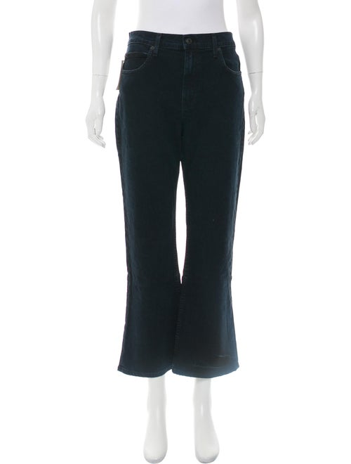 Proenza Schouler High-Rise Cropped Flare Jeans w/