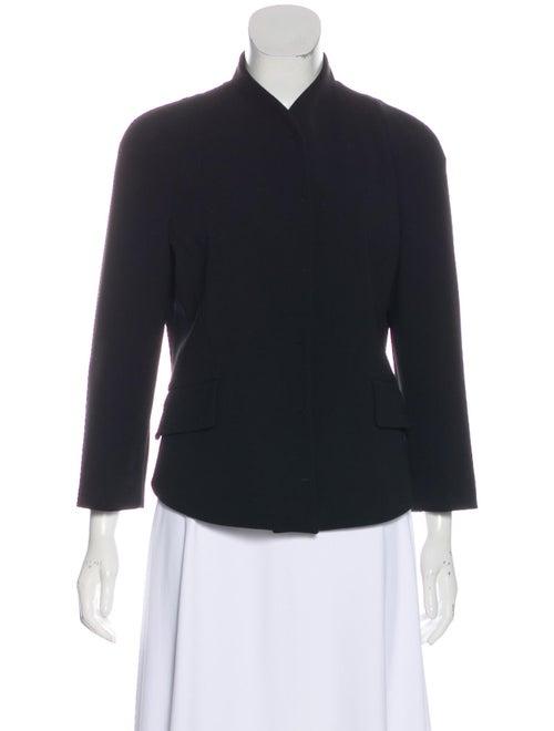 Proenza Schouler Collarless Wool Blazer Black