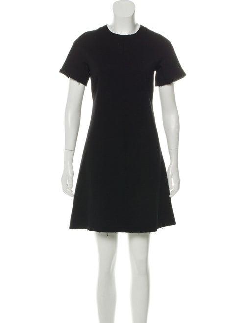 Proenza Schouler Wool-Blend Lace-Up Dress Black