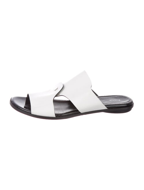 Proenza Schouler Leather Slides White