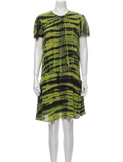 Proenza Schouler Tie-Dye Print Knee-Length Dress G
