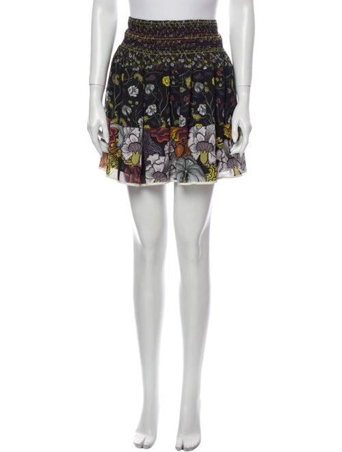 Proenza Schouler Silk Mini Skirt Black