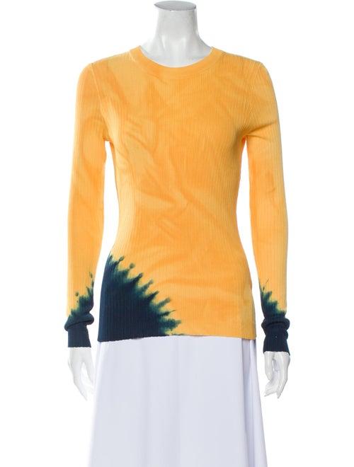 Proenza Schouler Tie-Dye Print Crew Neck Sweater w