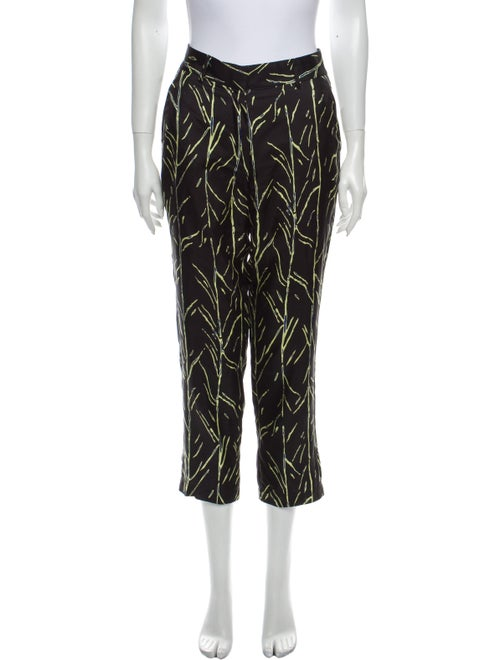 Proenza Schouler Silk Straight Leg Pants Black