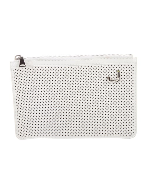 Proenza Schouler Leather Eyelet Clutch White