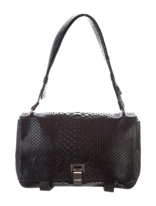 Proenza Schouler Python Shoulder Bag Black