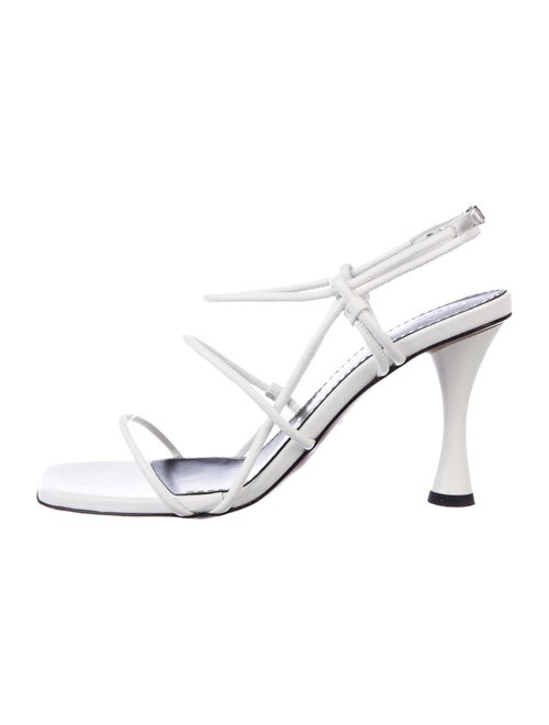 Proenza Schouler Leather Slingback Sandals White