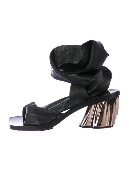 Proenza Schouler Leather Sandals Black