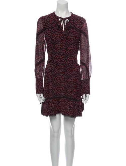 Proenza Schouler Silk Mini Dress Black