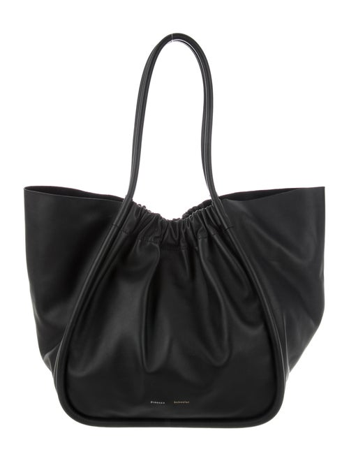 Proenza Schouler XL Ruched Leather Tote Black