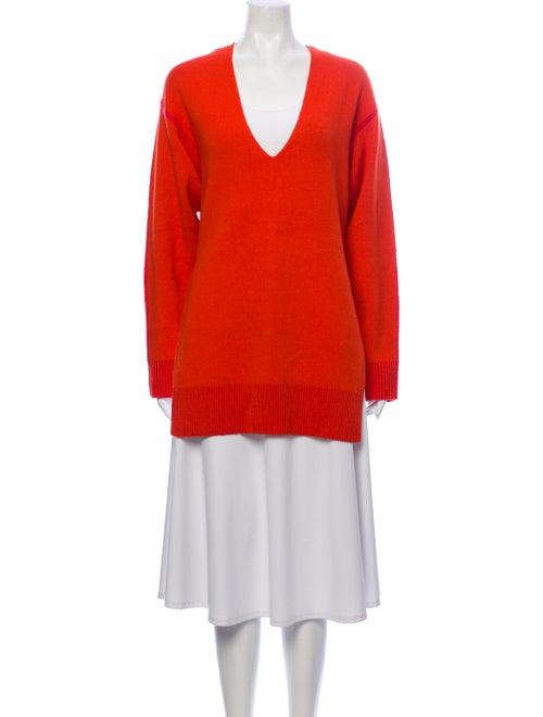 Proenza Schouler V-Neck Sweater Orange