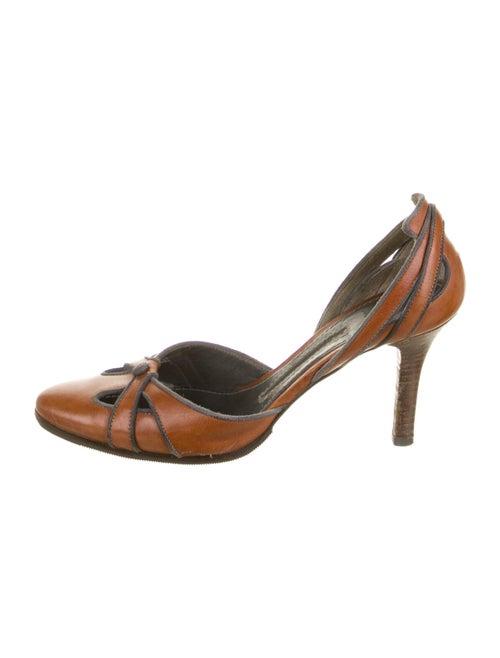 Proenza Schouler Leather D'Orsay Pumps Brown