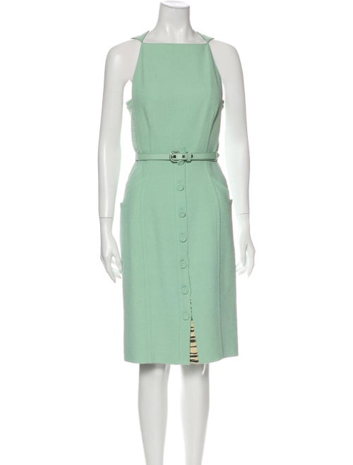 Proenza Schouler Silk Knee-Length Dress Green