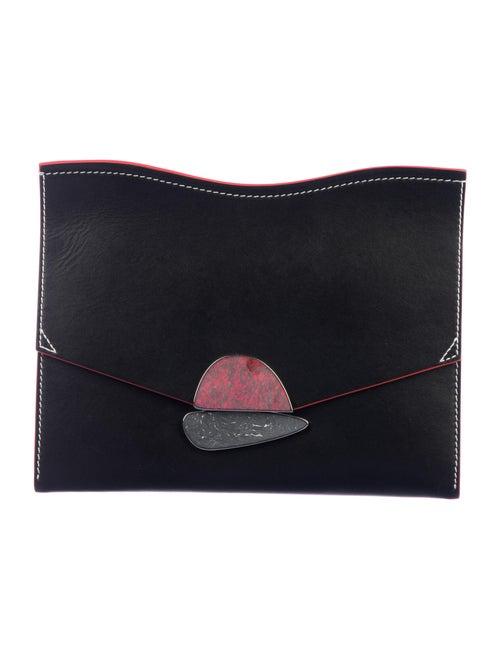 Proenza Schouler Leather Curl Clutch Black
