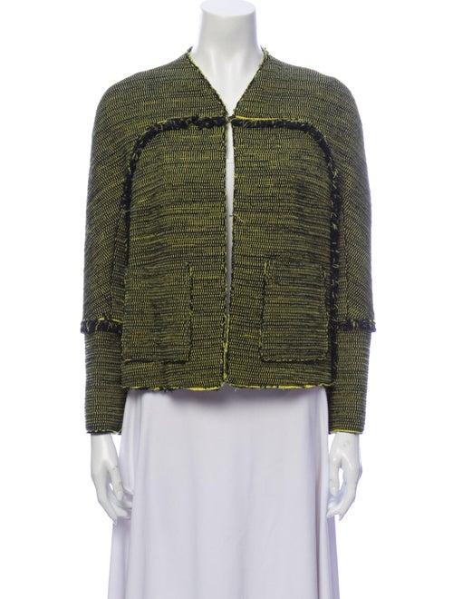 Proenza Schouler Printed Evening Jacket Green