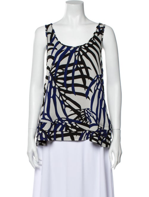 Proenza Schouler Silk Printed Blouse White
