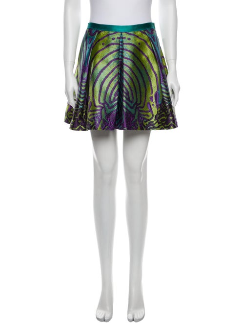 Proenza Schouler Printed Mini Skirt Green