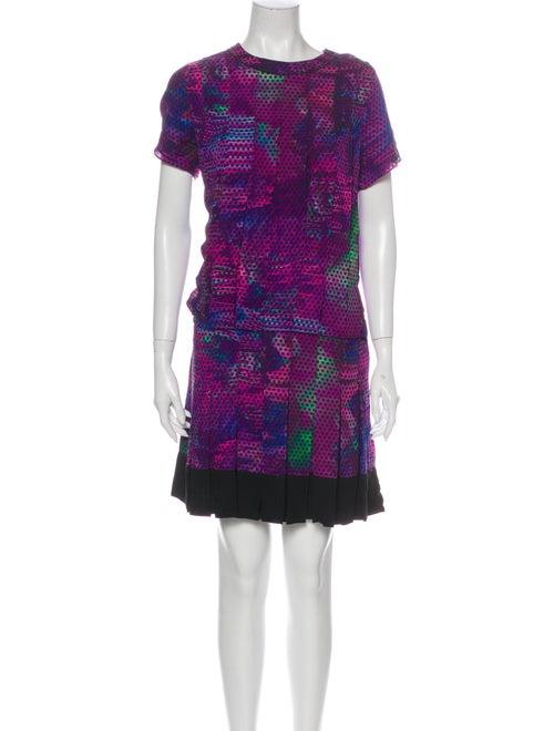 Proenza Schouler Silk Mini Dress Purple