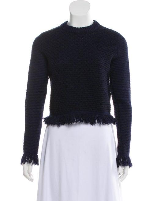 Proenza Schouler Fringe-Trimmed Sweater Navy