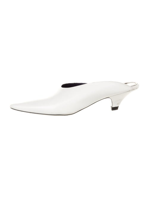 Proenza Schouler Leather Mules White