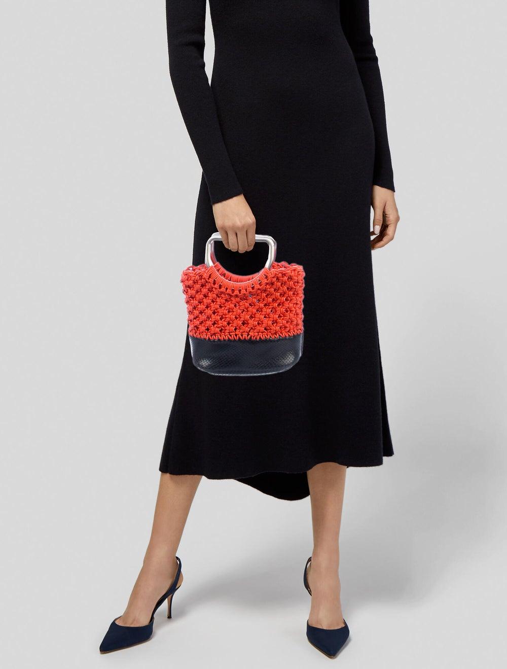 Proenza Schouler Small Market Macrame Bag Orange - image 2