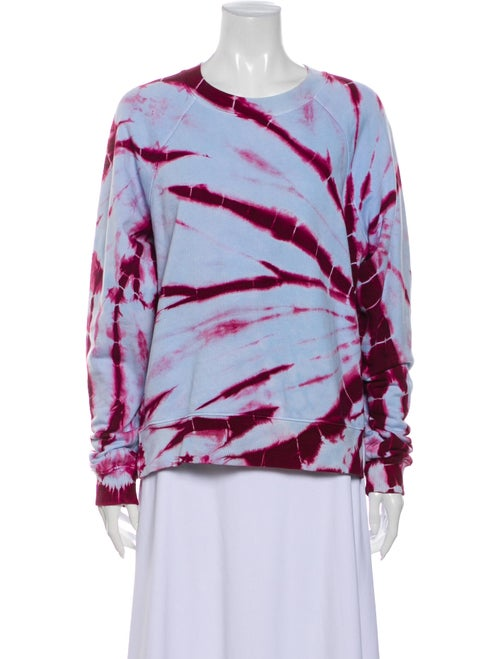 Proenza Schouler Tie-Dye Print Crew Neck Sweatshir