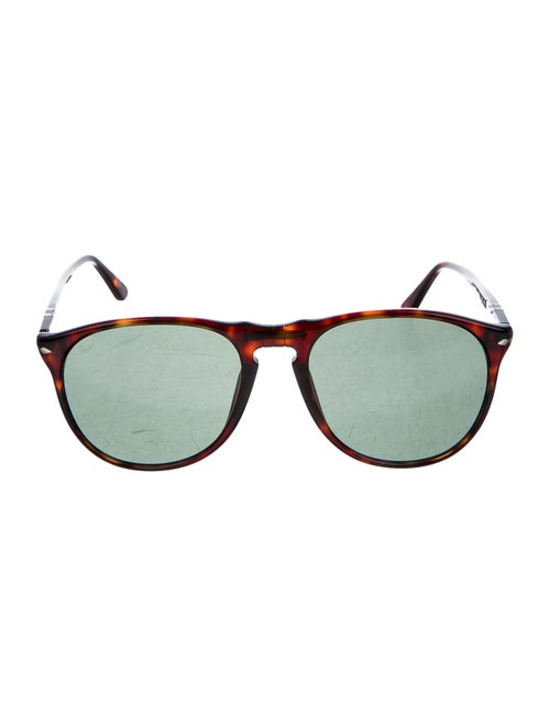 Persol Round Tinted Sunglasses brown